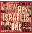 Meet the Israelis text background wordcloud vector image vector image