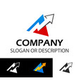 memorable logotype for businesses such as vector image vector image