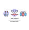mob violence concept icon civil unrest vandalism vector image vector image