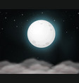 moon on dark sky vector image