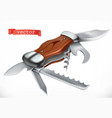multifunctional pocketknife 3d icon vector image