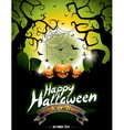 on a Happy Halloween theme vector image vector image
