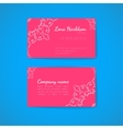 Pink Business Card Template with Decorative vector image