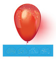 Red helium balloon with confetti