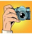 Retro camera snapshot selfie vector image
