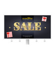 sale ad on the billboard horizontal poster with vector image vector image