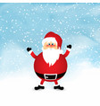 santa on snowy watercolour background vector image vector image