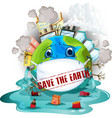 save earth icon vector image