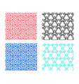 seamless geometric pattern in triangle concept vector image vector image