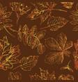 seamless pattern autumn 9 vector image vector image