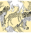 Seamless pattern savanna animals vector image vector image