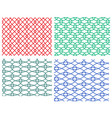 set of geometric weave circle seamless pattern vector image vector image