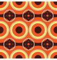 sixties orange retro vector image vector image