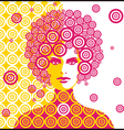sixties woman vector image vector image