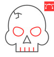 skull color line icon video games and death vector image vector image