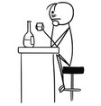 stickman cartoon of sad man in depression vector image