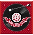 symbol new year plate vector image vector image