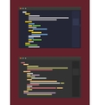 two color themes of developer code editor flat vector image vector image