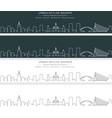 valencia single line skyline banner vector image vector image