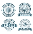 Vintage nautical labels emblems logo badges vector image vector image