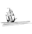 Vintage ship design vector image vector image