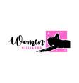 womens billiards sport modern logo vector image vector image