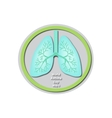 World Asthma Day - May 3 Lungs Baner vector image vector image