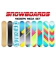 Set of Snowboards sample symbols vector image