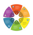 process chart abstract circle business options vector image