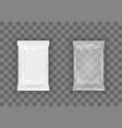 3d white flow transparent packaging with shadow vector image vector image