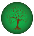 abstract tree with bare branches on a green vector image vector image