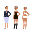 american models girls vector image