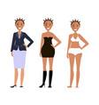 american models girls vector image vector image