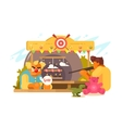 Amusement Park with shooting range vector image vector image