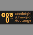 an alphabet rounded bold brown letters on a vector image