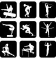 athletic sport icons vector image vector image