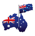 australian flag map vector image