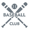 baseball club logo simple style vector image