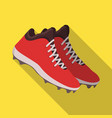 baseball sneakers baseball single icon in flat vector image vector image