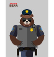 bear police Angry animals vector image vector image