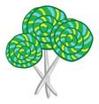 big green lollipop candies or color vector image