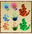 Bright set of plants and other natural gifts vector image vector image