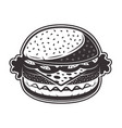 burger in monochrome style vector image