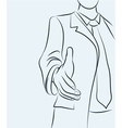 Businessman sketchy vector image
