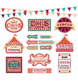 cartoon color circus show labels set vector image vector image