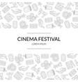 cinema festival banner template with place for vector image