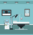 clinic room consultation care vector image vector image