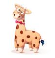 cute funny teddy giraffe - cartoon vector image