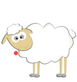 cute sylized sheep vector image vector image