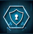 cyber security technology vector image vector image